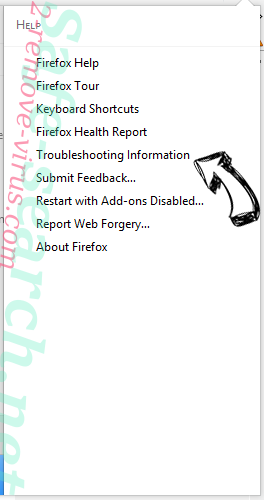 Search.searchtsbn.com Firefox troubleshooting