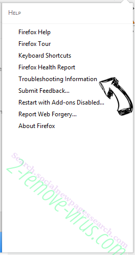 Search.socialnewpagessearch.com Firefox troubleshooting