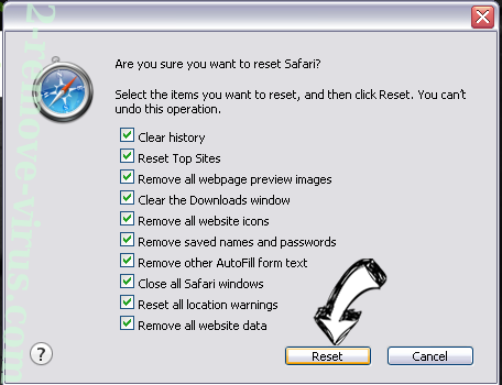 Luckysite123 Virus Safari reset
