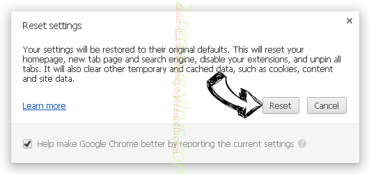 Search.tvnewpagesearch.com - jak odstranit? Chrome reset