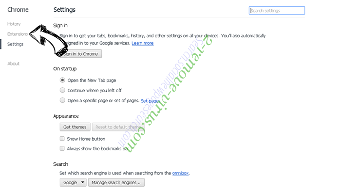Bargains virus Chrome settings