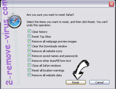 Bargains virus Safari reset