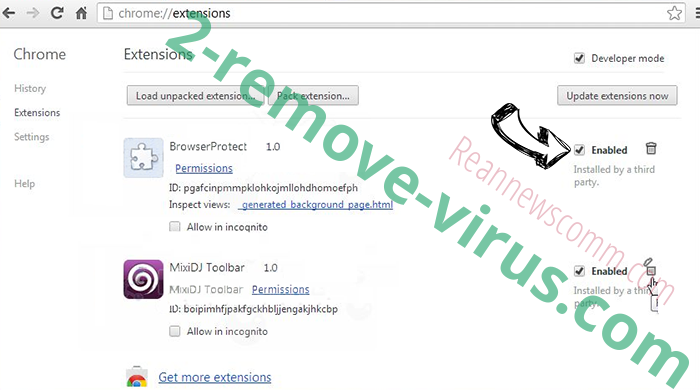 AWM Antivirus Chrome extensions disable