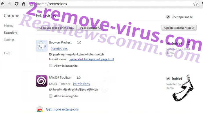 AWM Antivirus Chrome extensions remove