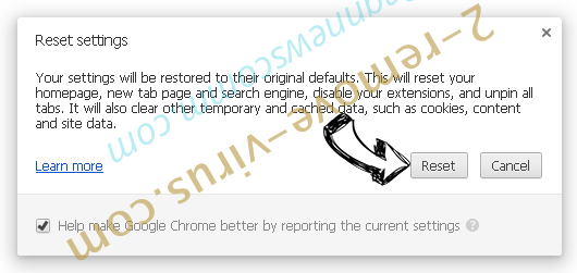 Secure Search Bar Chrome reset