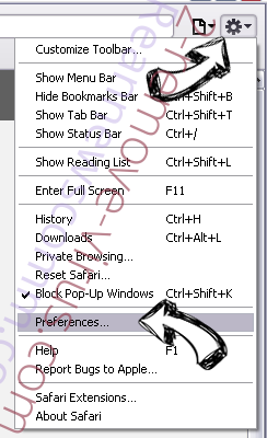 AWM Antivirus Safari menu