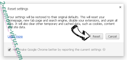 Critical Alert from Microsoft Chrome reset