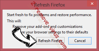 Weather Blink Firefox reset confirm