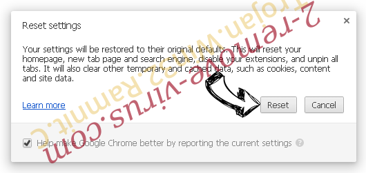 StartSearch Chrome reset