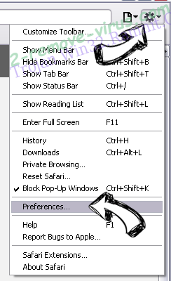 Mio.exe Safari menu