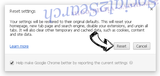 Hoho Search Chrome reset
