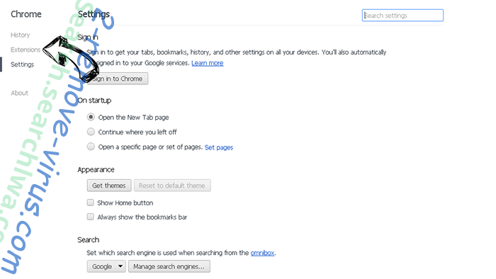Searchlock3.com Chrome settings