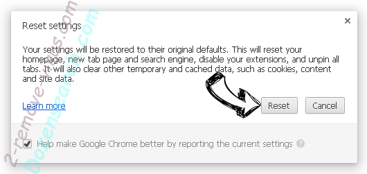 RecipeKart Chrome reset