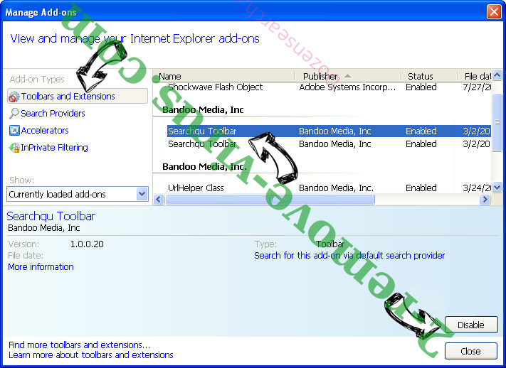 Dozensearch.com IE toolbars and extensions