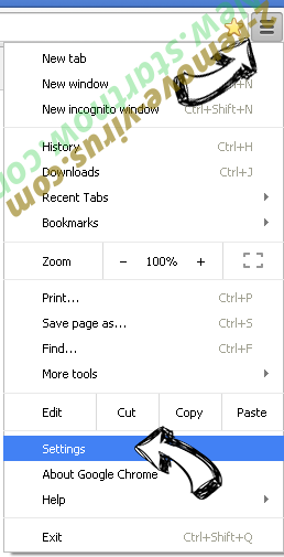Search.etoolkit.com Chrome menu