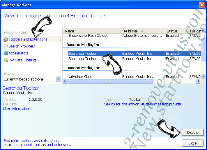 Searchgby.com IE toolbars and extensions