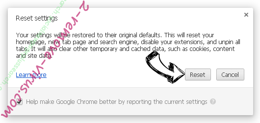 Удаление Social2Search Chrome reset