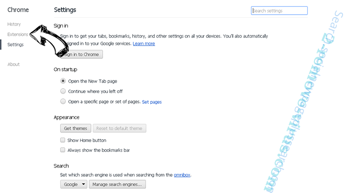 Social2Search Chrome settings