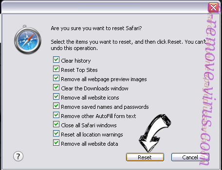 IWinstore Toolbar Safari reset