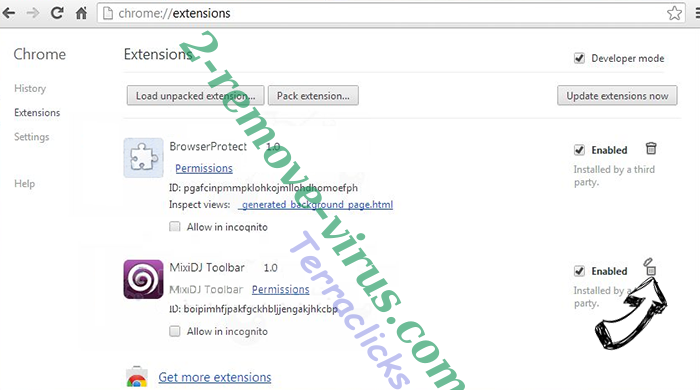 Mysearch24.com Chrome extensions remove