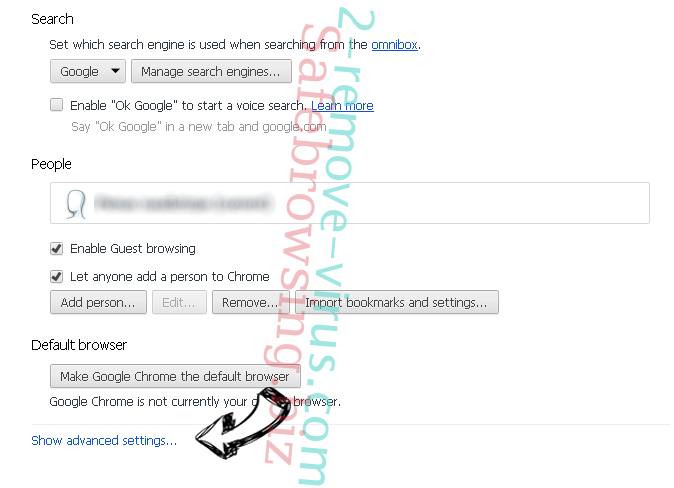 Supprimer Nt.inmotionsearch.com Chrome settings more