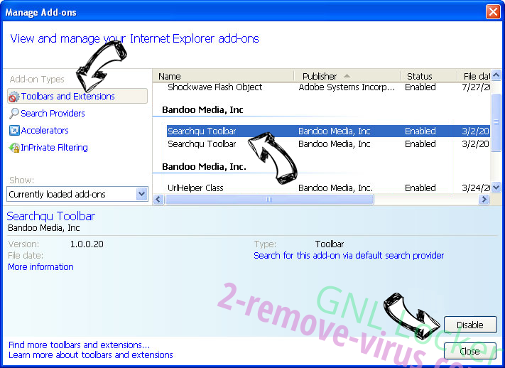 Search.searchmev2.com IE toolbars and extensions