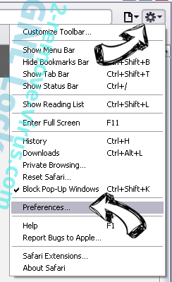 .porno virus Safari menu