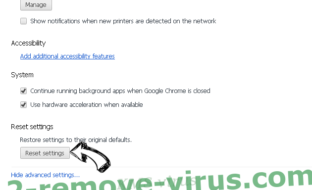 KMS virus Chrome advanced menu