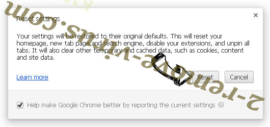 Fake Google Crash Handler Chrome reset