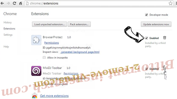 Screen Watch Browser Hijacker Virus Chrome extensions disable