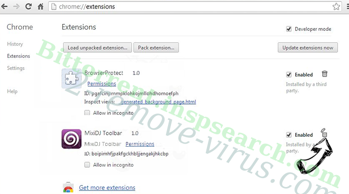 Search.greatsocialsearch.com Chrome extensions remove