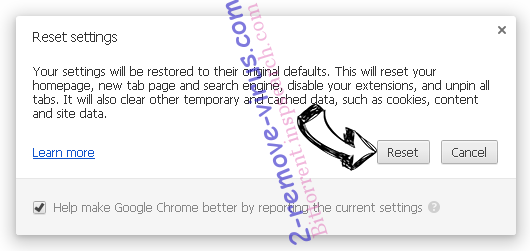 Freewebtrending.com Chrome reset