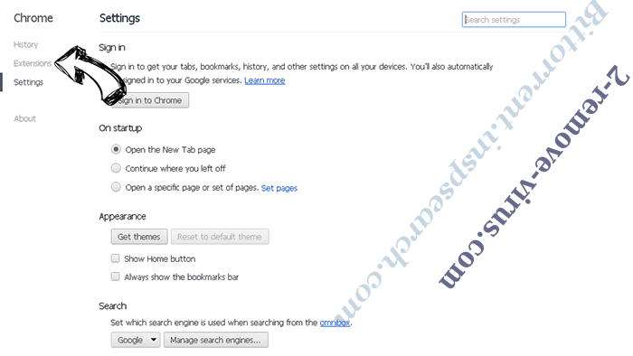 Screen Watch Browser Hijacker Virus Chrome settings