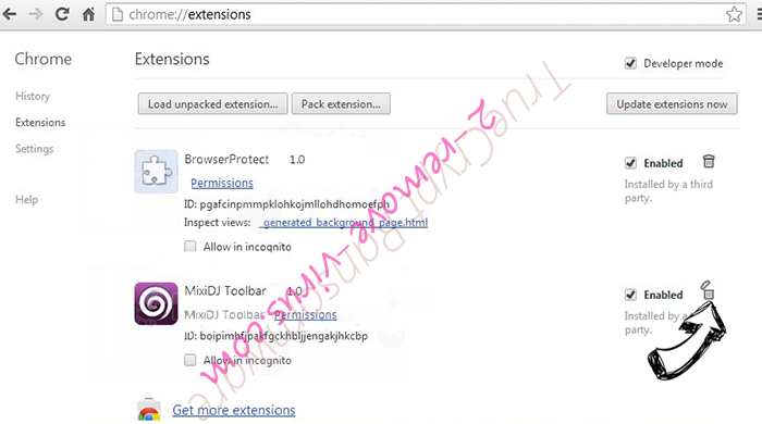 Internet Security Alert Chrome extensions remove