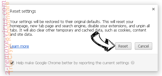 Internet Security Alert Chrome reset