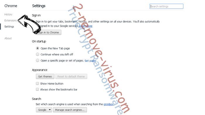 Internet Security Alert Chrome settings