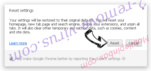 Searchvzcc.com Chrome reset