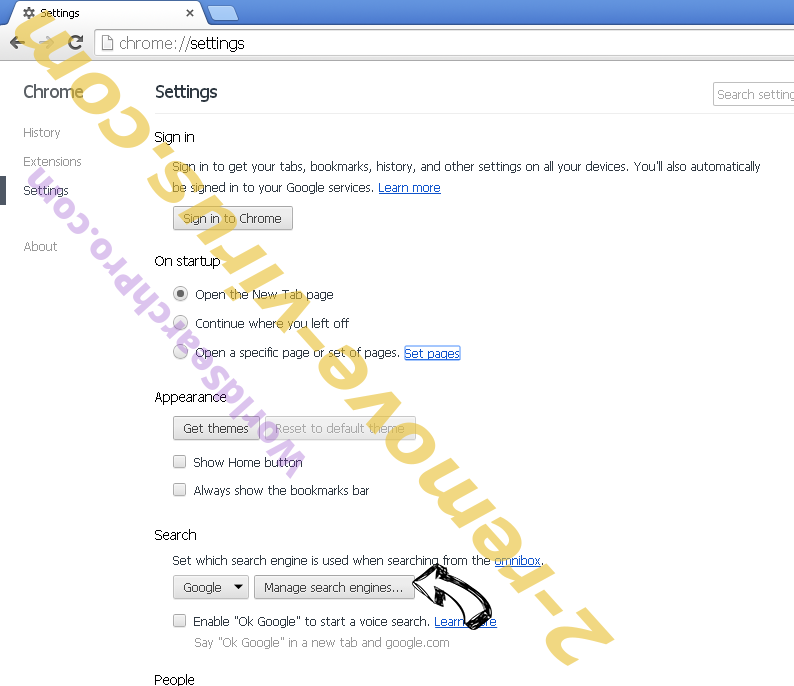 Rimuovere Locky File Virus Chrome extensions disable