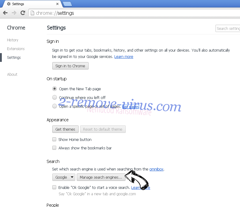Удаление zCrypt virus Chrome extensions disable