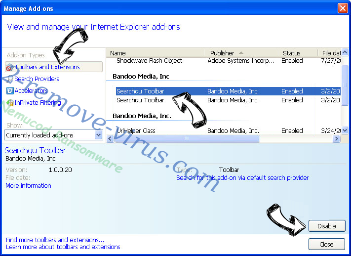 zCrypt virus IE toolbars and extensions