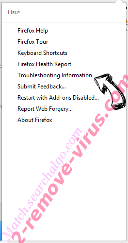 Match.searchalgo.com Firefox troubleshooting