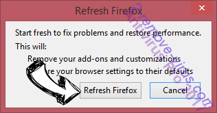 Search.moccini.com Firefox reset confirm