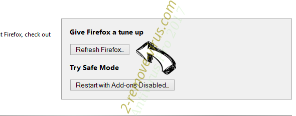 Search.moccini.com Firefox reset