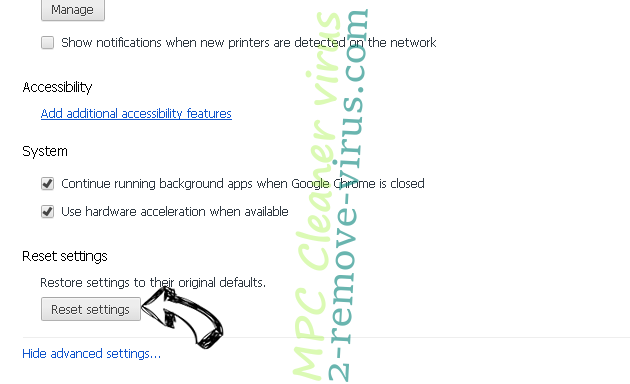 Nt.searchadventure.net - как удалить? Chrome advanced menu