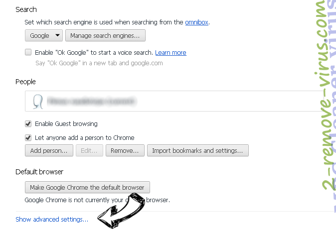 Nt.searchadventure.net - как удалить? Chrome settings more