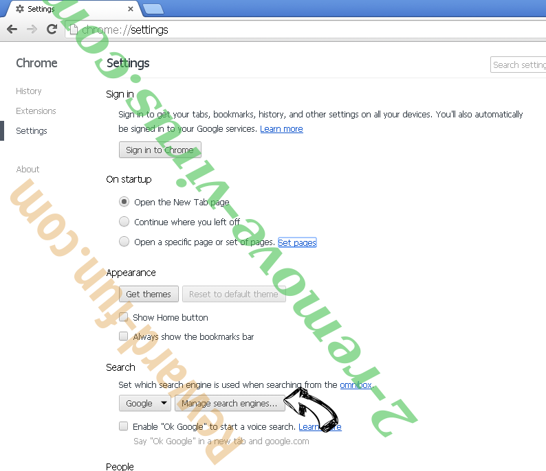 Setup Wizard Virus Chrome extensions disable