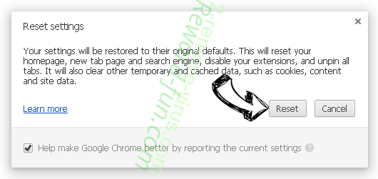WebSearchInc.net Chrome reset