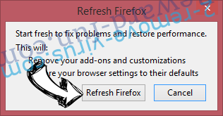 WebSearchInc.net Firefox reset confirm
