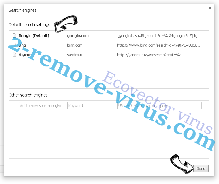 Ecovector virus Chrome extensions disable