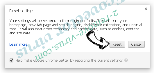 Supprimer UltraCrypter ransomware Chrome reset